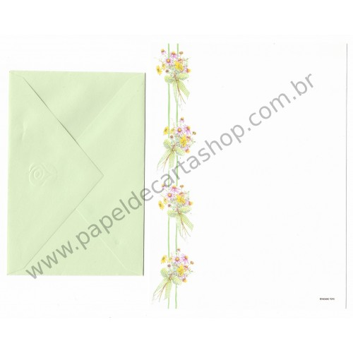 Conjunto de Papel de Carta ANTIGO Holly Hobbie M7