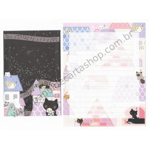 Conjunto de Papel de Carta Importado Kutusita Nyanko BH3 - San-X Japan