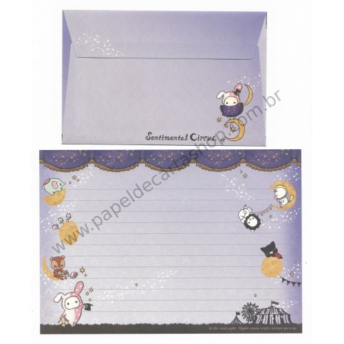 Conjunto de Papel de Carta Importado Sentimental Circus CRX - San-X Japan