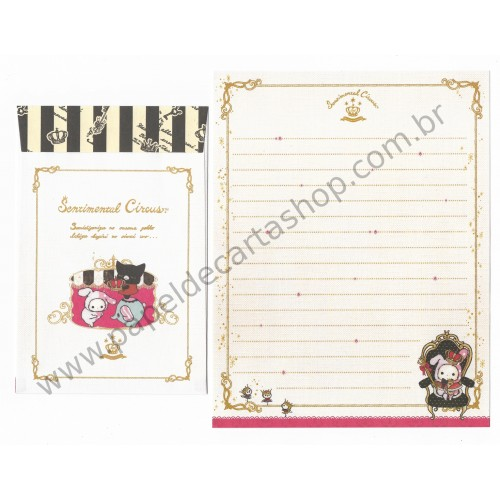 Kit 4 Conjuntos de Papel de Carta Sentimental Circus - San-X Japan