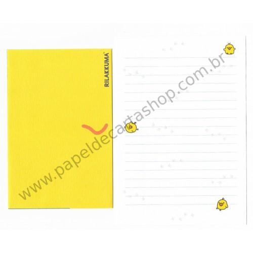 Conjunto de Papel de Carta Importado Rilakkuma CAM - San-X
