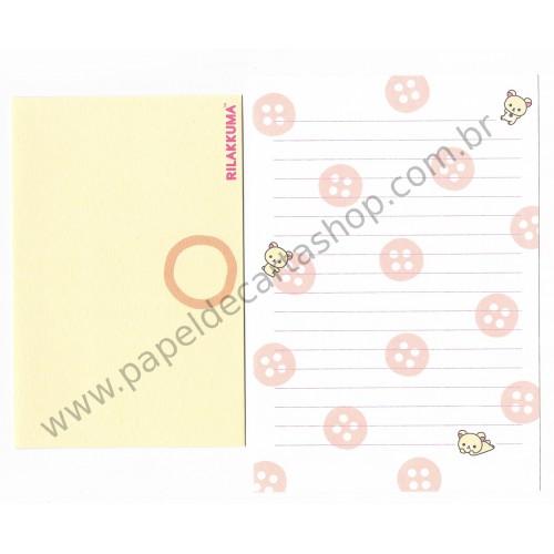 Conjunto de Papel de Carta Importado Rilakkuma CBG - San-X