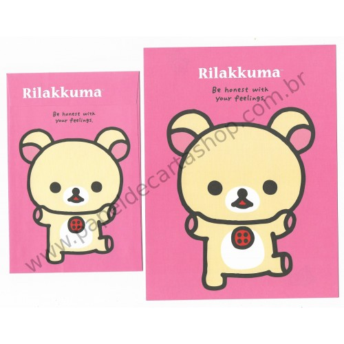 Kit 4 Conjuntos de Papel de Carta Rilakkuma Be Honest With Your Feelings - San-X