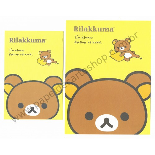 Kit 4 Conjuntos de Papel de Carta Rilakkuma Feeling Relaxed - San-X