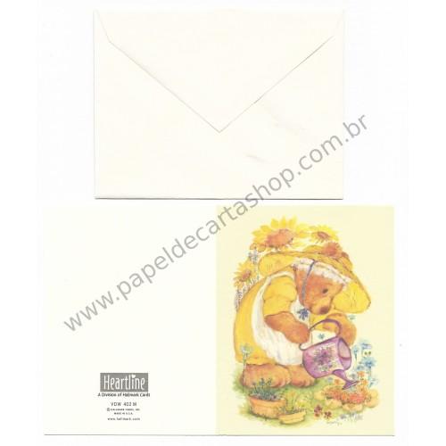 Cartão Antigo Importado Mary Hamilton BEAR - Hallmark