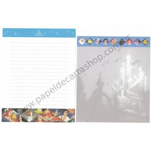 Conjunto de Papel de Carta Importado The Little Mermaid Disney