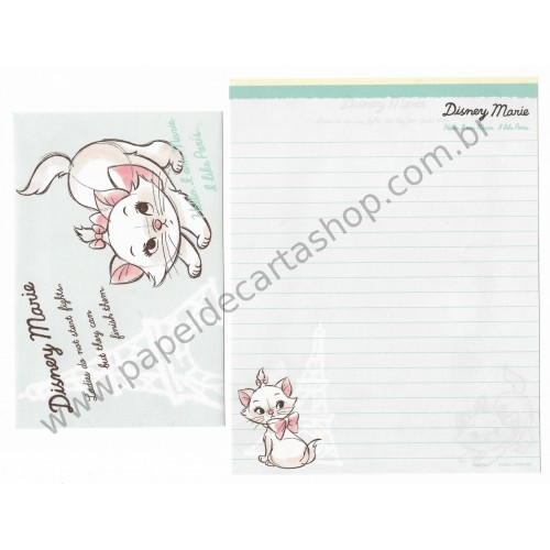 Kit 2 Conjuntos de Papel de Carta Disney Marie