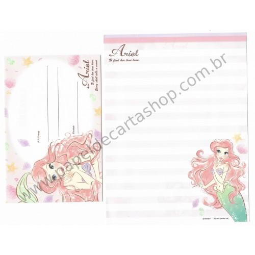 Kit 2 Conjuntos de Papel de Carta Disney Ariel