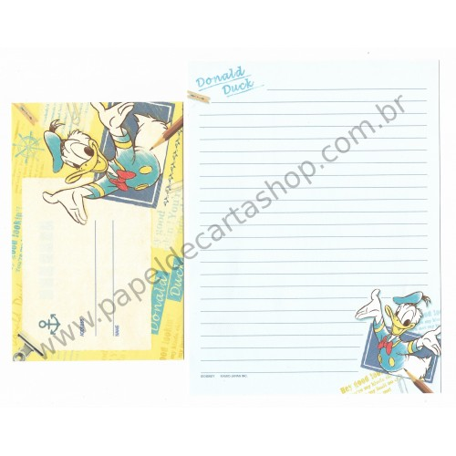 Kit 2 Conjuntos de Papel de Carta Disney Donald Duck (CAZ)