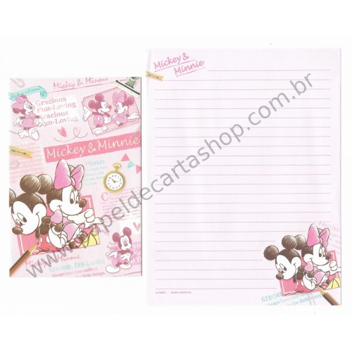Kit 2 Conjuntos de Papel de Carta Disney Mickey & Minnie (CRS)