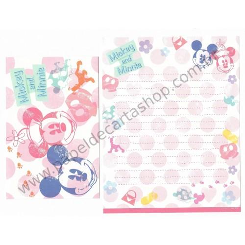 Kit 2 Conjuntos de Papel de Carta Disney Mickey & Minnie (VAZ)