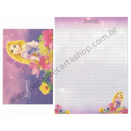 Conjunto de Papel de Carta Disney Rapunzel Believe in Your Dreams - Kamio Japan