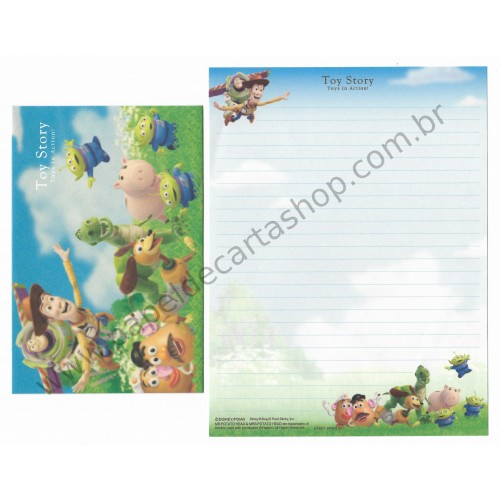 Conjunto de Papel de Carta Disney Pixar Toy Story Toys in Action - Kamio Japan