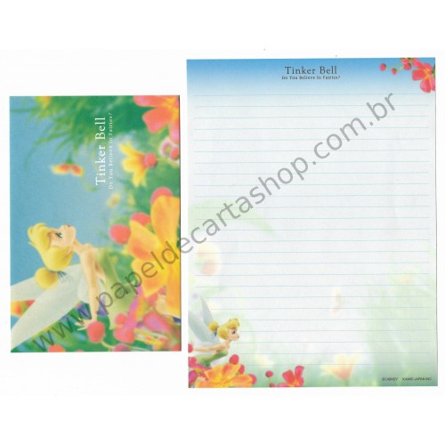Conjunto de Papel de Carta Disney Tinker Bell Do You Believe in Fairies? Kamio Japan