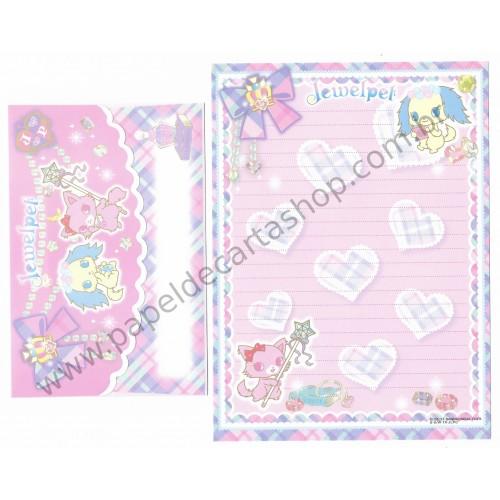Ano 2011. Conjunto de Papel de Carta Jewelpet CRS Sanrio/ SEGA TOYS
