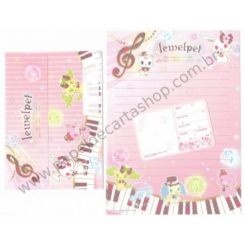 Ano 2011. Conjunto de Papel de Carta Jewelpet Jewels Sanrio/ SEGA TOYS