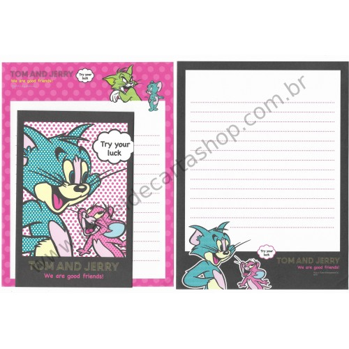 Conjunto de Papel de Carta IMPORTADO Tom & Jerry 08