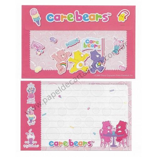 Ano 2007. Conjunto de Papel de Carta P Importado Care Bears