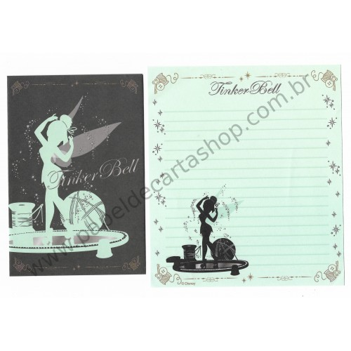 Kit 2 Conjuntos de Papel de Carta Disney Tinker Bell