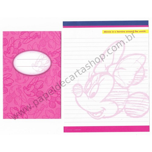 Conjunto de Papel de Carta Disney Minnie (CRS) Sun-Star