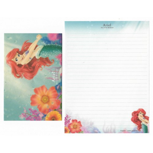 Conjunto de Papel de Carta Disney Ariel The Little Mermaid - Kamio Japan