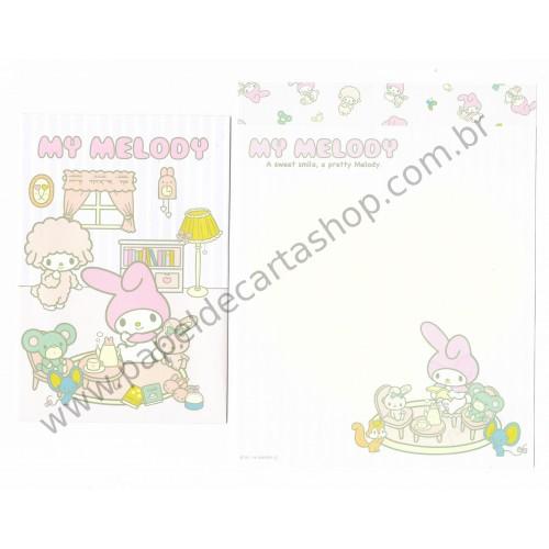 Ano 2014. Conjunto de Papel de Carta My Melody XZR2 Sanrio