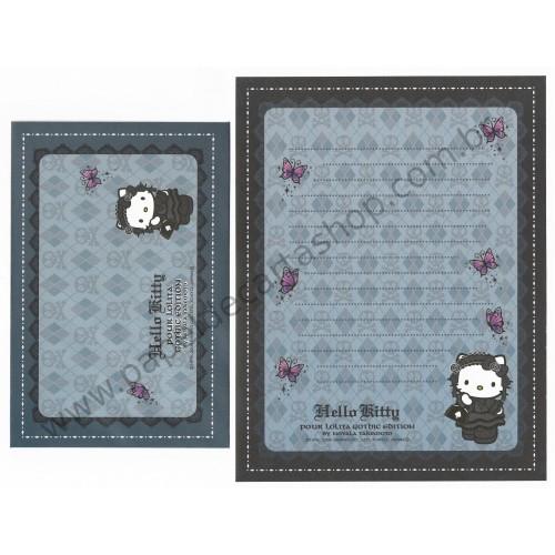 Ano 2006. Conjunto de Papel de Carta GOTOCHI Kitty Pour Lolita Sanrio
