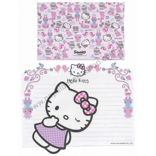 Ano 2013. Conjunto de Papel de Carta Hello Kitty Birds Sanrio