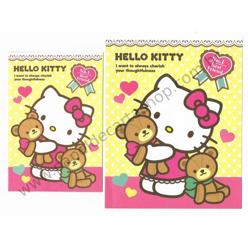 Ano 2013. Conjunto de Papel de Carta Hello Kitty No1 Best Friend Sanrio