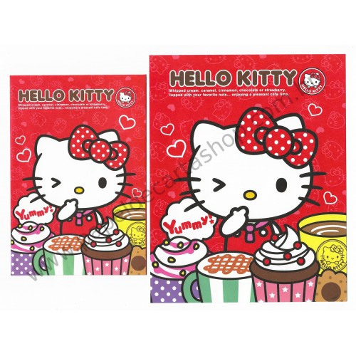 Ano 2013. Conjunto de Papel de Carta Hello Kitty Cafe Time Sanrio