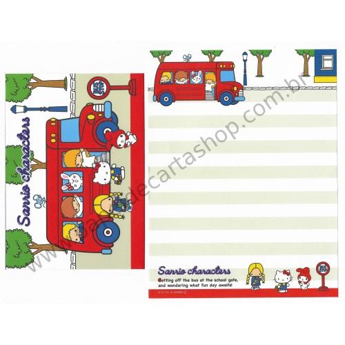 Ano 2016. Conjunto de Papel de Carta Hello Kitty & SANRIO CHARACTERS CVM