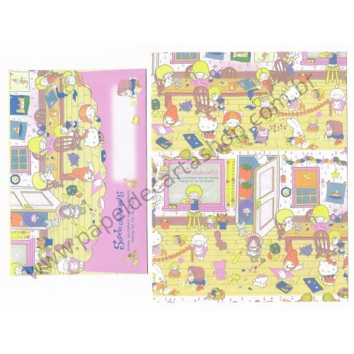 Ano 2016. Conjunto de Papel de Carta Hello Kitty & SANRIO CHARACTERS Fun All Around 1
