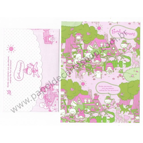 Ano 2016. Conjunto de Papel de Carta Hello Kitty & SANRIO CHARACTERS Fun All Around 3
