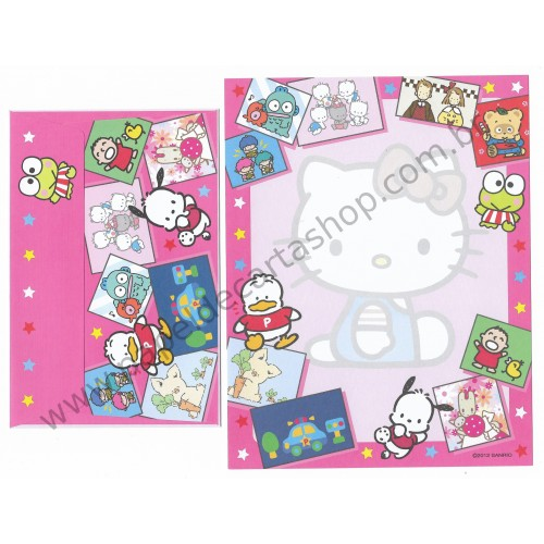 Ano 2012. Conjunto de Papel de Carta Hello Kitty & SANRIO CHARACTERS CRS 1