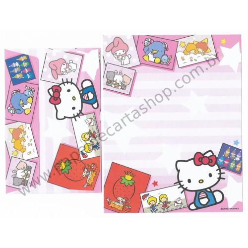 Ano 2012. Conjunto de Papel de Carta Hello Kitty & SANRIO CHARACTERS CRS 4