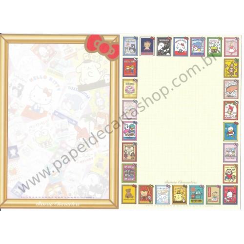 Ano 2014. Lote 8 Papéis de Carta Hello Kitty & SANRIO CHARACTERS