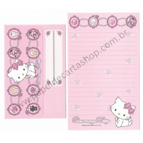 Ano 2005. Conjunto de Papel de Carta Charmmy Kitty CRS Sanrio