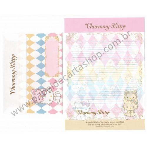 Ano 2005. Conjunto de Papel de Carta Charmmy Kitty VEG Sanrio