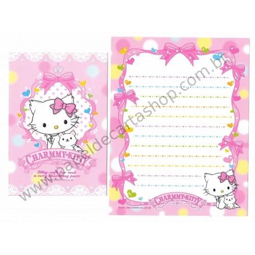 Ano 2005. Conjunto de Papel de Carta Charmmy Kitty BRR Sanrio