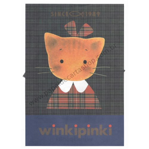 Ano 1991. Conjunto de Papel de Carta Winkipinki Antigo G (Vintage) Sanrio