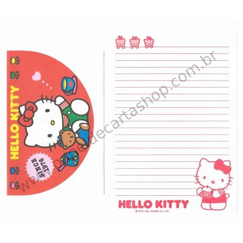 Ano 1991. Conjunto de Papel de Carta Hello Kitty Antigo (Vintage) Sanrio