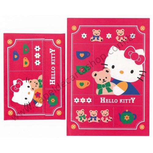 Ano 1995. Conjunto de Papel de Carta Hello Kitty CVM (Vintage) Sanrio