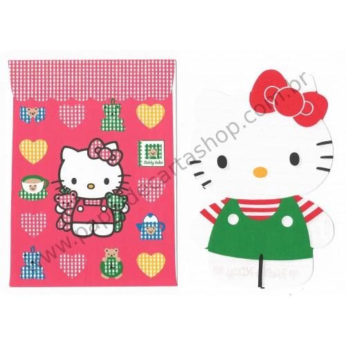 Ano 1995. Conjunto de Papel de Carta P Hello Kitty Antigo (Vintage) Sanrio