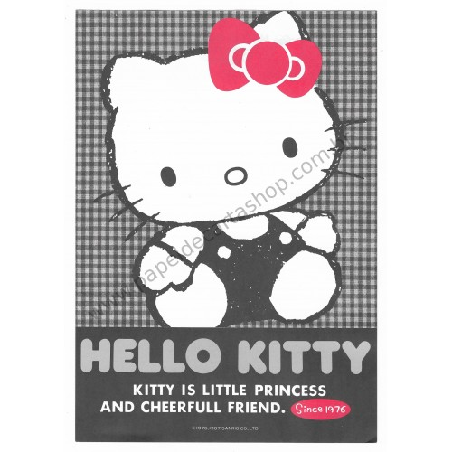 Ano 1987. Papel de Carta Hello Kitty Antigo AVULSO Princess (Vintage) Sanrio