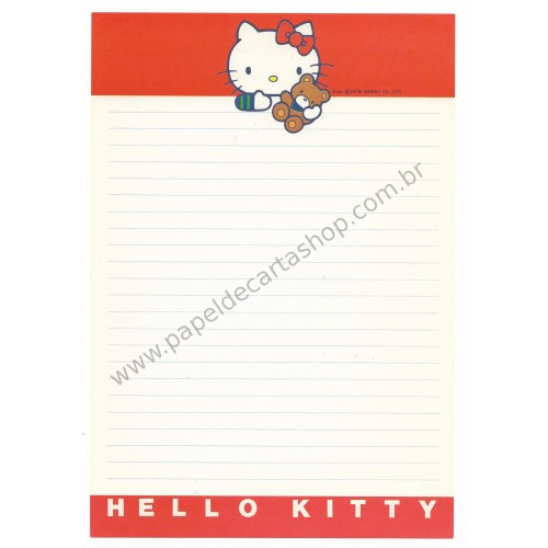 Ano 1976. Papel de Carta Hello Kitty Antigo AVULSO (Vintage) Sanrio