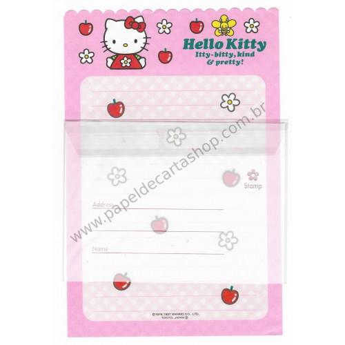 Ano 1997. Conjunto de Papel de Carta Hello Kitty Antigo (Vintage) Sanrio