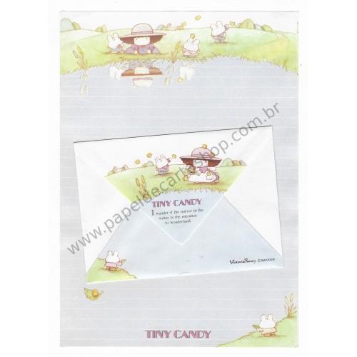 Conjunto de Papel de Carta Antigo (Vintage) Tiny Candy The Entrance of Wonderland - Victoria Fancy Gakken