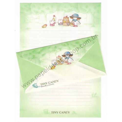 Conjunto de Papel de Carta Antigo (Vintage) Tiny Candy Apple - Victoria Fancy Gakken