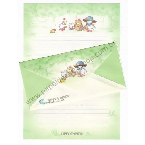Conjunto de Papel de Carta Vintage Tiny Candy Apple Gakken