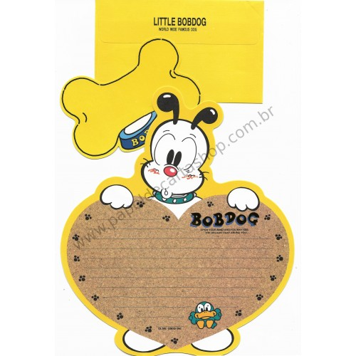Conjunto de Papel de Carta Antigo (Vintage) Little Bobdog Yellow Wealthyluck Sunward